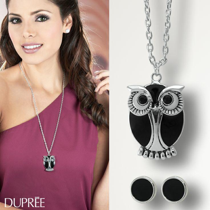 Completa tu look con los mejores accesorios....¿Sabías que el Búho es un amuleto para la buena suerte? Significa intuición y sabiduría.