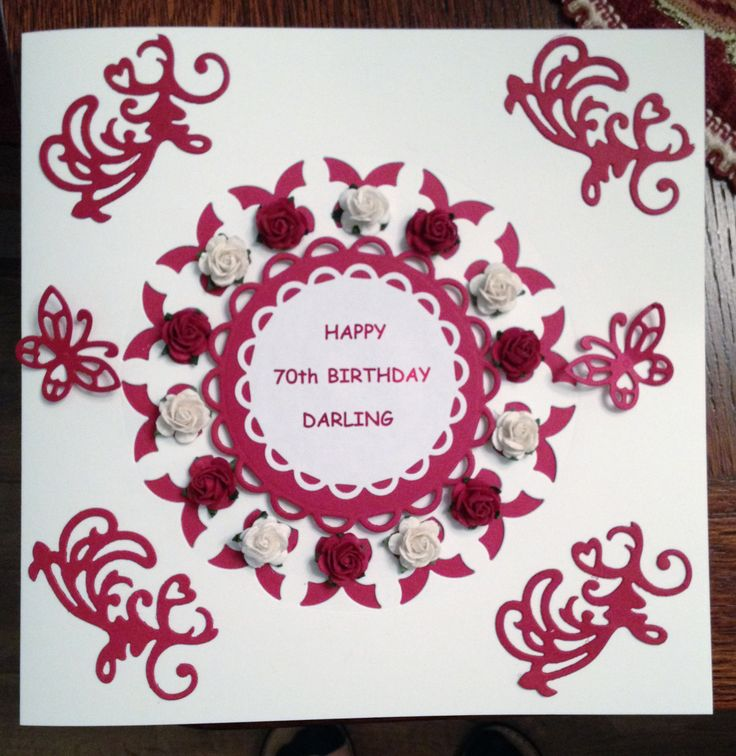 Card made to order for 70th Birthday