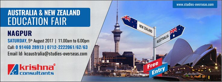 Attend Australia - New Zealand Education Fair 2017 at Krishna Consultants Nagpur on 5th Aug 2017   Why Attend?  Meet and Interact with Representatives from Leading Australian and New Zealand Institutions. Comprehensive Education Counselling. Information on Scholarships and Admission Process. Avail Application Fee Waiver.* Guidance on Education Loans.  Register Here: https://goo.gl/AZh6yz