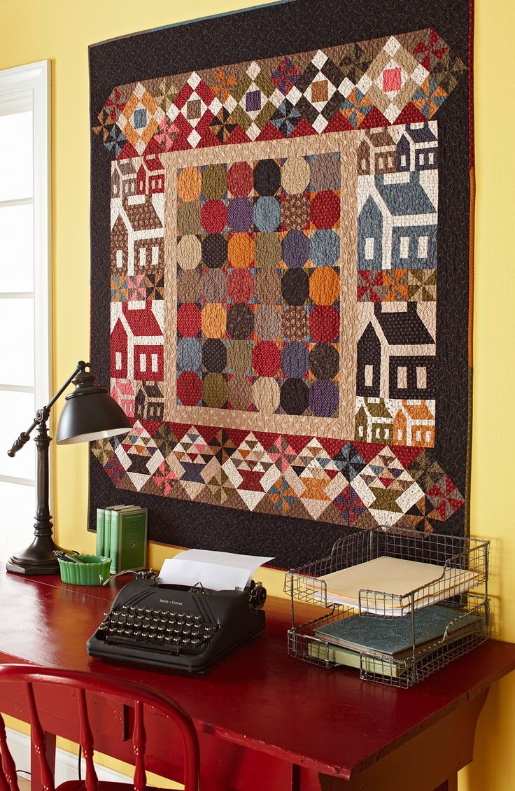 Spools doll quilt table runner wall hanging lyn brown s quilting - Back To School Quilting Pattern From The Editors Of American Patchwork Triangle Printquilted Table Runnersquilt Blockswall Hangingspatchwork Quilting