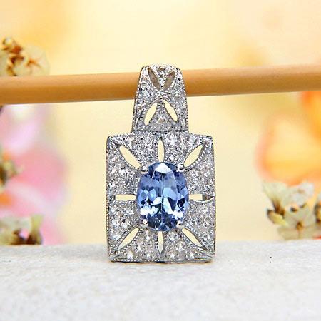 Sterling Silver White Topaz, Tanzanite PendantTanzanite Pendants, Tanzanite Jewelry, Sterling Silver, White Topaz, Silver White