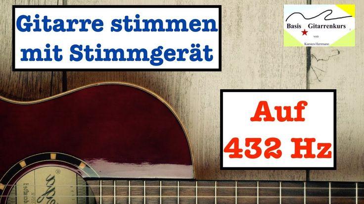Gitarre stimmen mit einem Stimmgerät und Stimmung auf 432 Hz/432 Hz Tuning