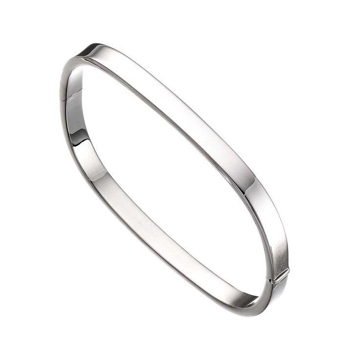 Square Silver Bangle #silver #jewellery
