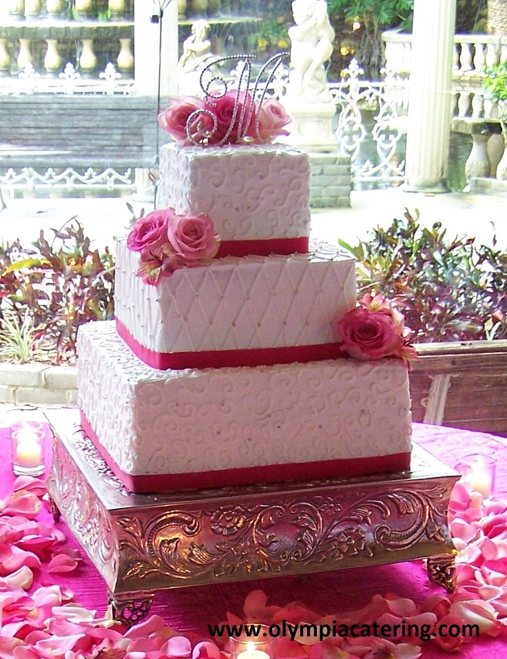 square wedding cakes with ribbon and flowers 73 best images about wedding cakes on 20429