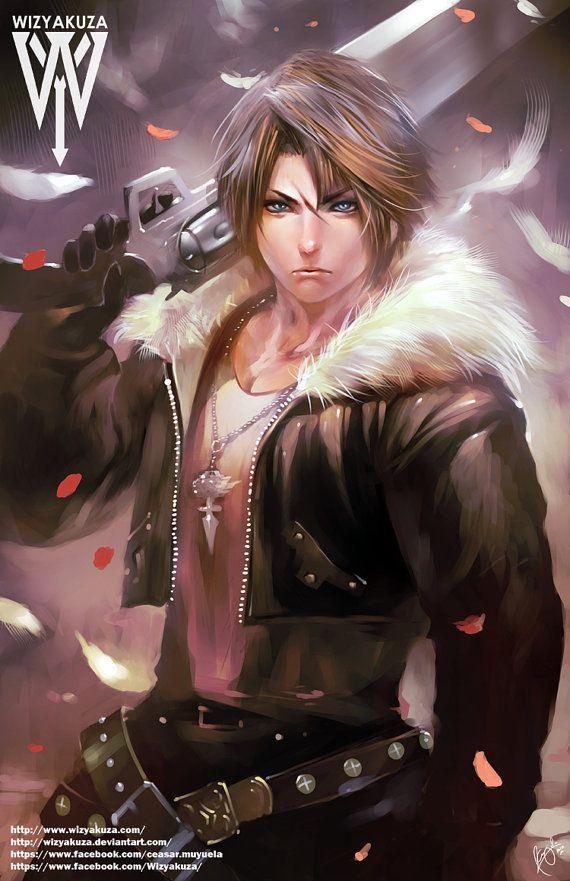Squall Leonhart  Final Fantasy VIII  11 x 17 Digital by Wizyakuza