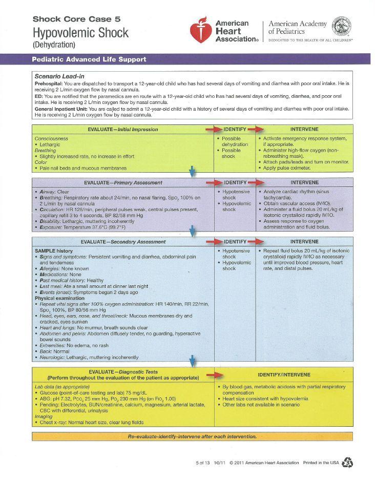 Nursing case study hypovolemic shock