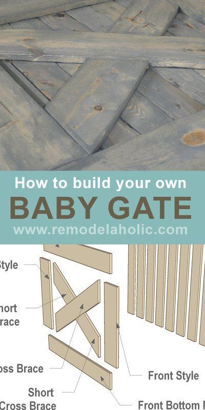 Free Barn Door Baby Gate Plans! #barn_door #baby_gate #pet_gate