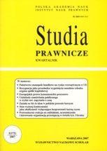 Wydawnictwo Naukowe Scholar :: :: 2007 STUDIA PRAWNICZE nr 2 UWAGA!!! Do kupienia WYŁĄCZNIE w PDFie