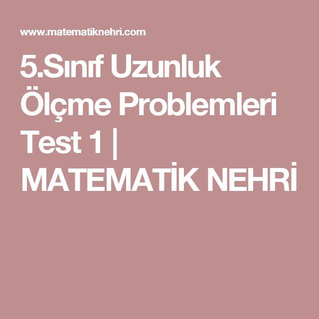 5.Sınıf Uzunluk Ölçme Problemleri Test 1 | MATEMATİK NEHRİ