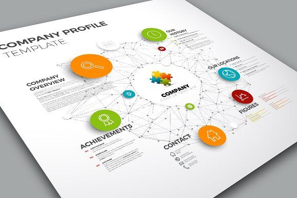 Company Profile Template by Orson on Creative Market Corporate - free business profile template