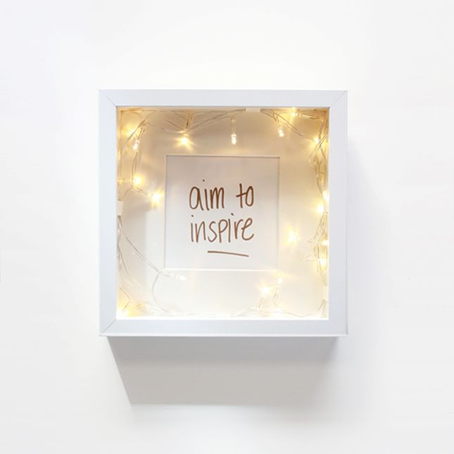 DIY | Pretty Lightbox Picture Frame