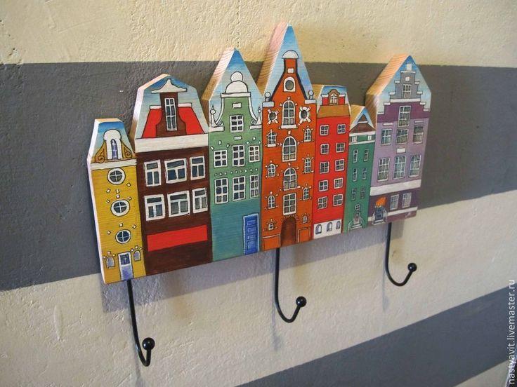 Купить вешалка - Роспись по дереву, вешалка, для детей, детская комната, детская, интерьер, интересный подарок