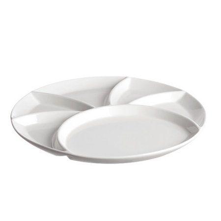 La Porcellana Bianca Convivio Fondue/Party Divided Serving Dish - Walmart.com