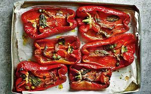 Baked peppers with anchovies and capers recipe - Telegraph