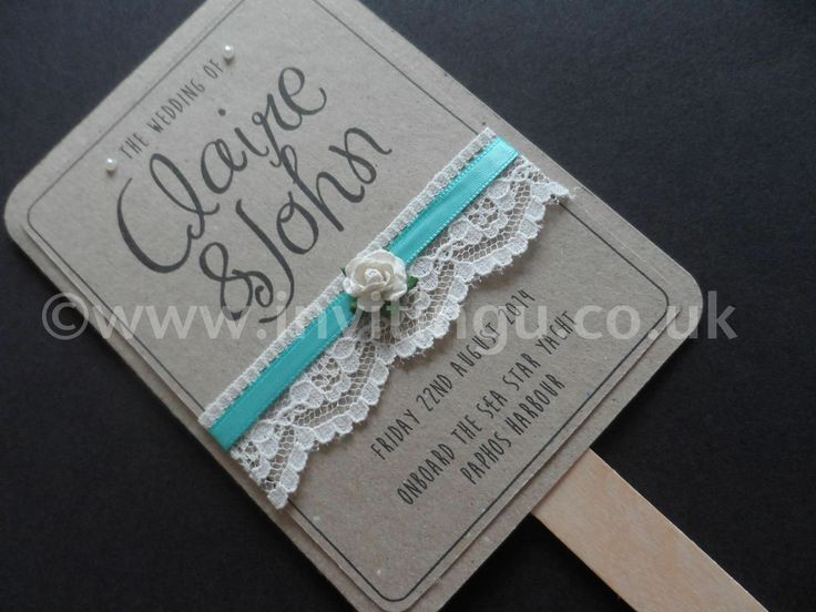 A new Collection on Vintage style wedding stationery. 'Oh So Pretty' Wedding Fan from ©www.invitingu.co.uk