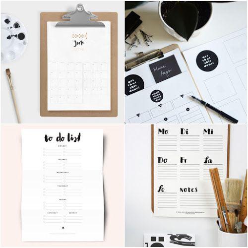 free printable kostenlose druckvorlagen zum organisieren und planen kalender 2016. Black Bedroom Furniture Sets. Home Design Ideas