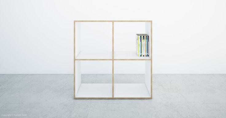 Custom 18mm plywood white open shelves. Made to measure shelving. Bespoke furniture idea.