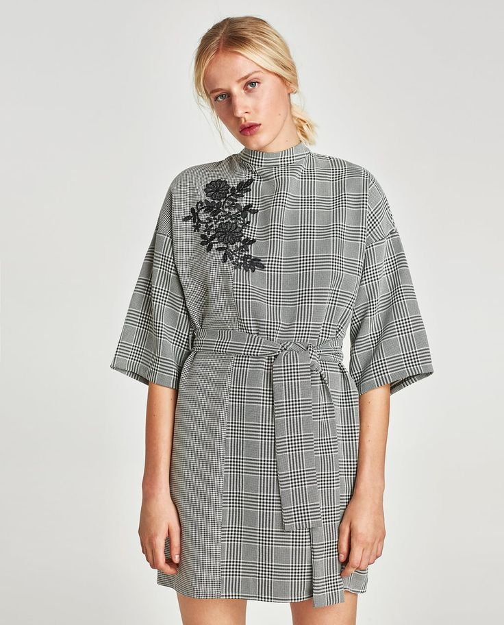 Image 2 of CHECKED COMBINATION DRESS from Zara