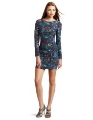 Rebecca Minkoff Womens Pleated Freja Printed Dress