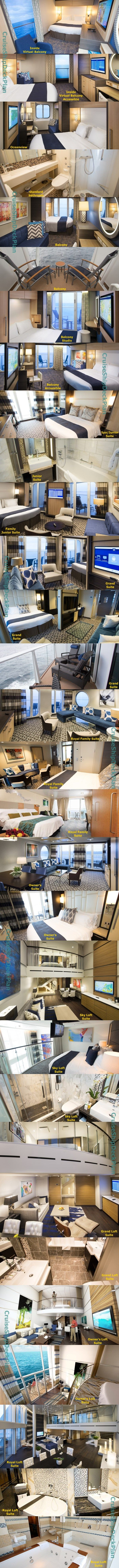 Royal Caribbean Ovation of the Seas cabins and suites photos. Wow! To the last rooms!!! Awesome!