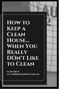 How to Keep a Clean House When Cleaning is NOT Your Thing