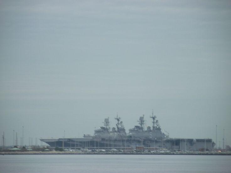 Carriers at Norfolk Naval Base, Norfolk Virginia
