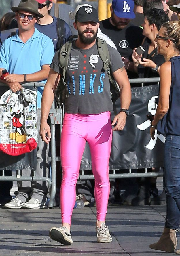 And Shia LaBeouf went out dressed like this.