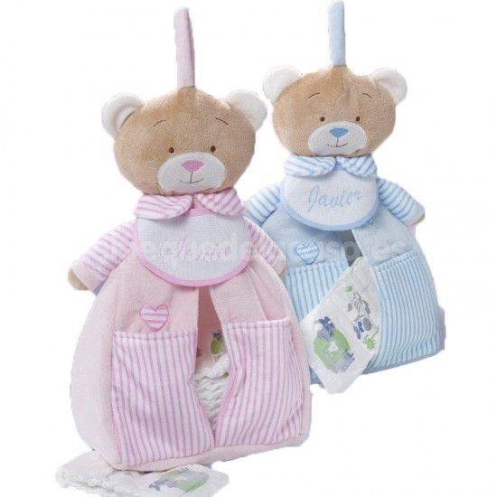 Dos guarda pañales personalizados para gemelos o mellizos