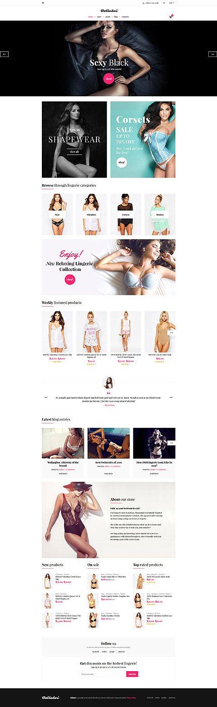 Elegant Lingerie Online Store #WooCommerce #template. #themes #business #responsive #WooCommercethemes