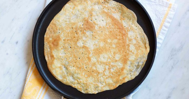 This easy pancake recipe from taste member, 'Sweet_Junkie' contains no sugar so is suitable for both sweet and savoury toppings.