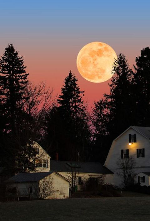 Moonrise in New Hampshire.