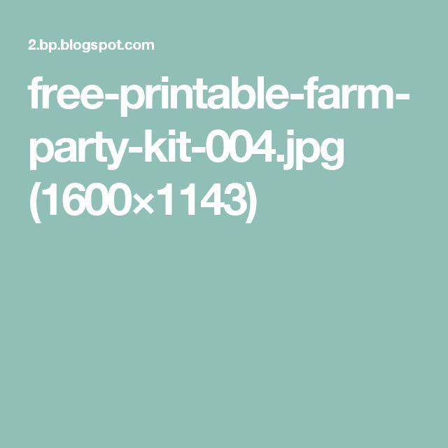 free-printable-farm-party-kit-004.jpg (1600×1143)