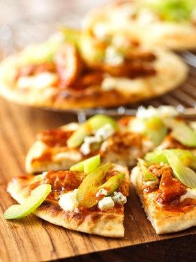 Buffalo Chicken Pizzas Recipe