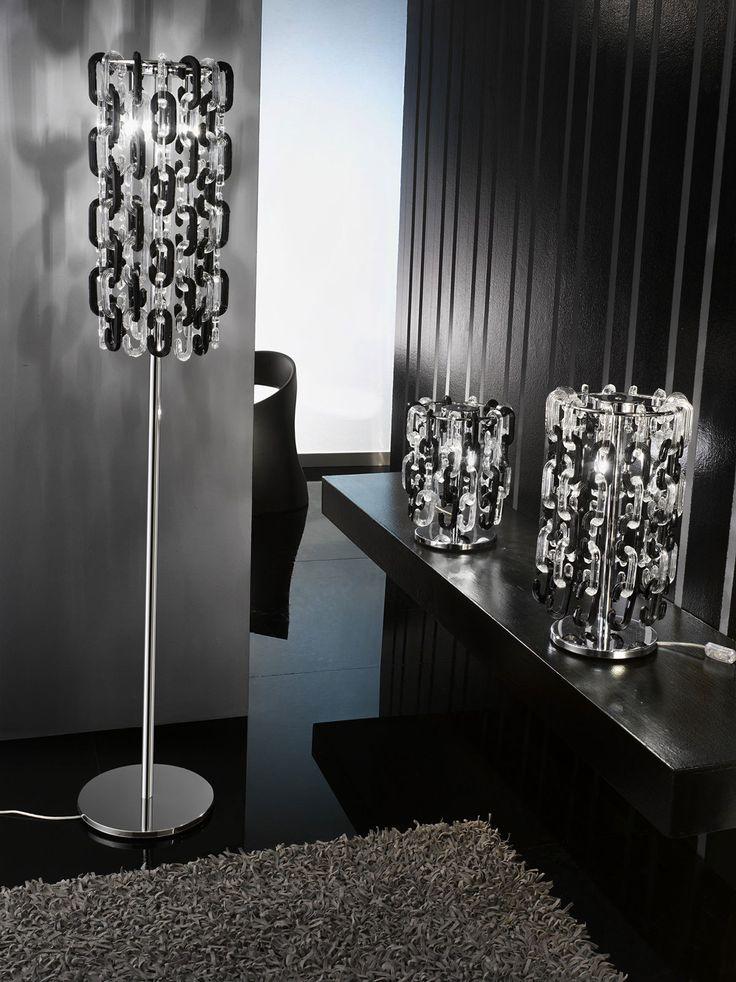 Murano hand blown glass contemporary lamp online sell lighting floor lamp black white
