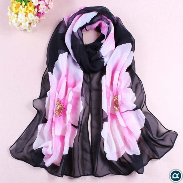 FEITONG/® Fashion New Lady Women Soft Printed Silk Shawl Scarf
