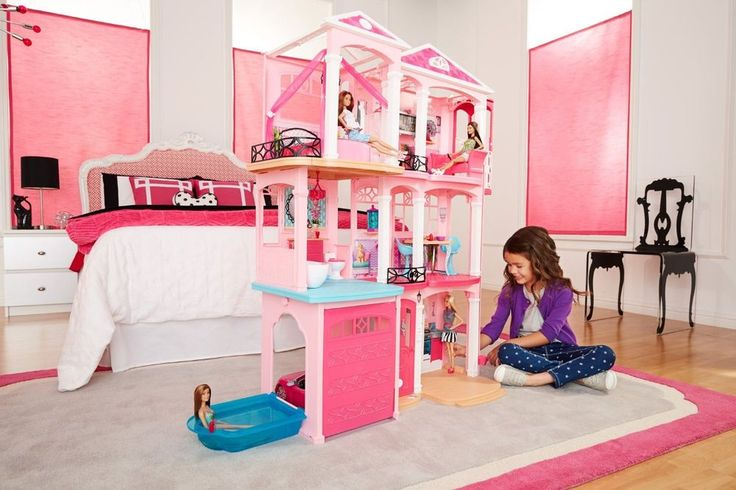 Barbie Dream House Mansion Dollhouse Girls Toy 70 Accessories 3 Floors 7 Rooms #BarbieDreamHouse #Mansion
