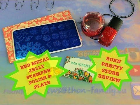 Born Pretty Store - Red Metal Jelly Stamper, Polish & Plate-Review - YouTube