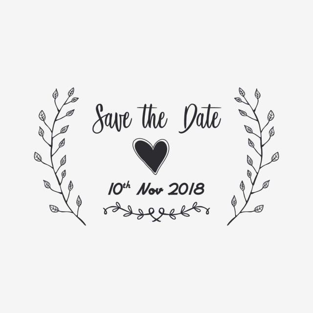 Ornament Save The Date Typography Illustration Ornament Save The Date S Png And Vector With Transparent Background For Free Download Typography Free Vector Ornaments Save The Date
