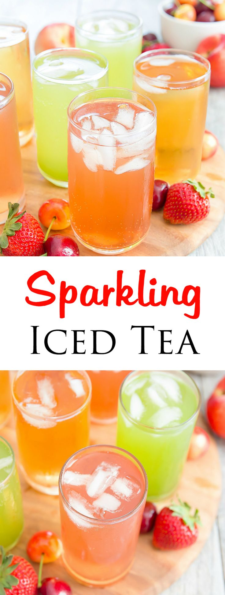 Sparkling Iced Tea. A refreshing and easy drink for a summer party!