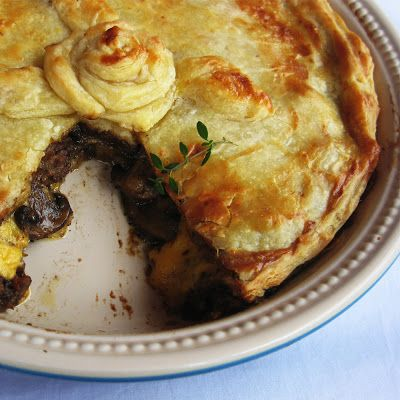 Layered Beef Pie with Mushrooms and Cheddar http://cookanelephant.blogspot.com/2013/07/freshly-blogged-challenge-week-2.html