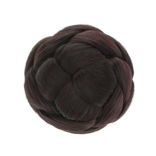 Brown Faux Hair Bun Creator