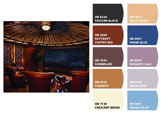 Theater Room - Paint colors from Chip It! by Sherwin-Williams