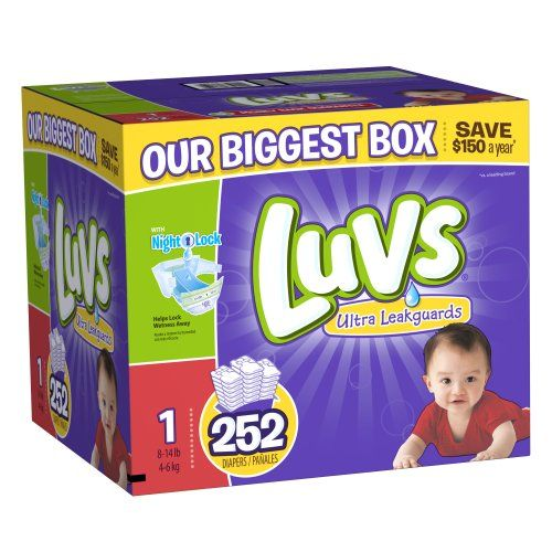 Great Deal: Quality & Quantity! Luvs With Ultra Leakguards Size 1 Diapers 252 Count Luvs,http://www.amazon.com/dp/B00DDMILGM/ref=cm_sw_r_pi_dp_m0Jdtb0KSX261X31