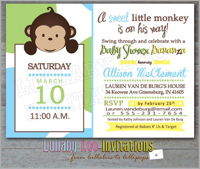 10 best Best Monkey Baby Shower Invitations Design images on - invitation wording for baby shower
