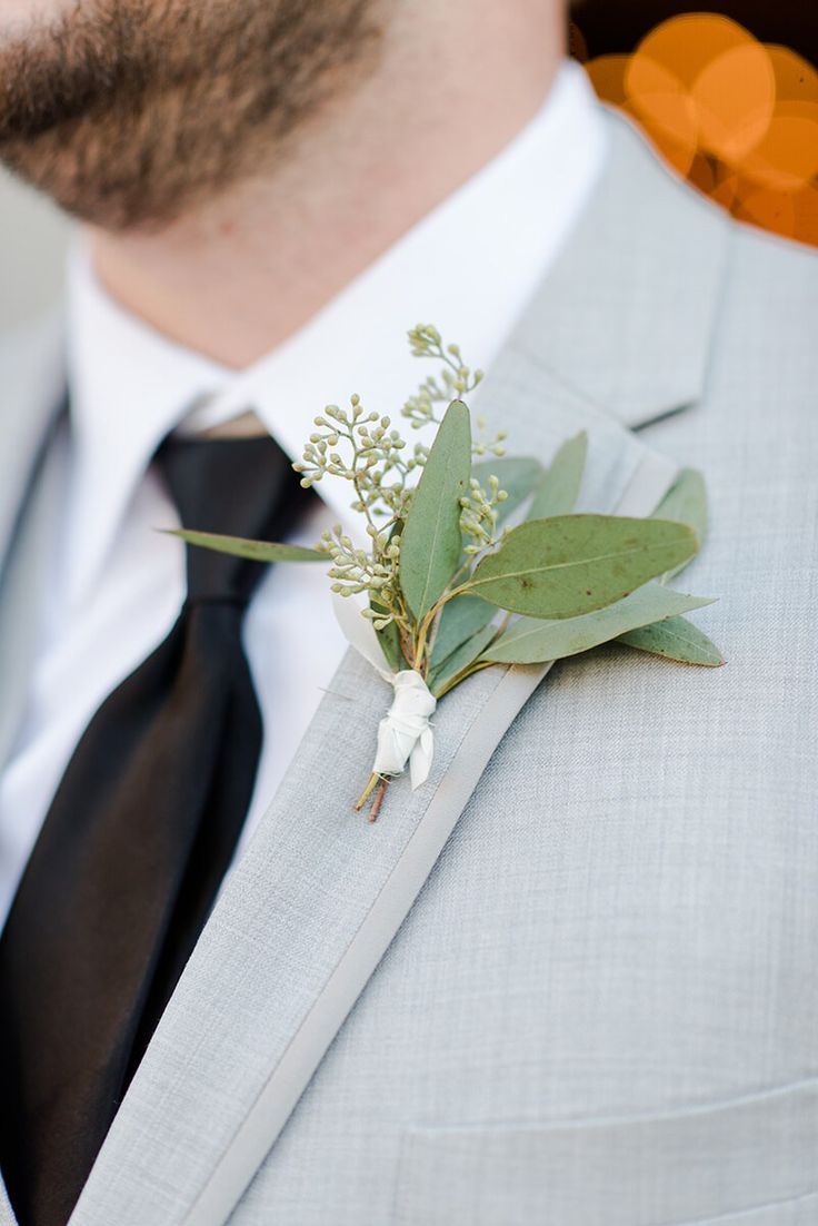 Rustic Chic Vineyard Wedding - greenery boutonniere