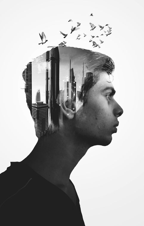 Double Exposure Tutorial by Mithil Thaker, via Behance