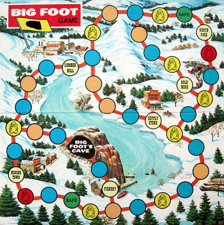 Bigfoot board game bigfoot finding bigfoot vintage cards