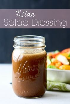 Asian Salad Dressing - simple and delicious. This dressing will take your salad to a whole new level. GREAT ideas for the perfect Asian salad included!