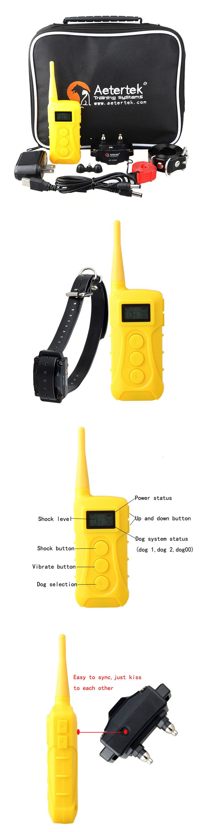 Animals Dog: Dog Training Collar With Remote For Small Medium Large Dogs 10 Level Shock Vibra BUY IT NOW ONLY: $59.99