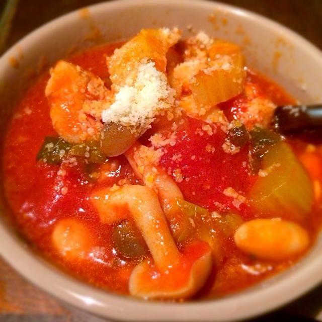ダイエット中の方に、大豆料理を! - 1件のもぐもぐ - 大豆と野菜のトマト缶煮込み by booloco